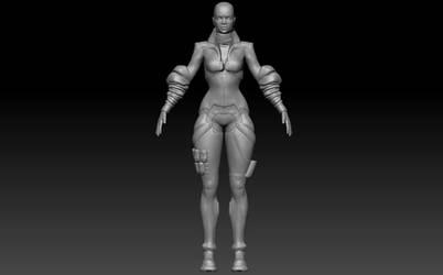 Romantic Girl WIP sculpt
