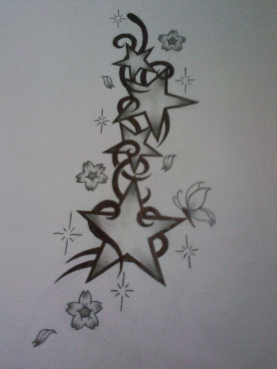 Butterfly star tattoo designs - Star Tattoo Design By Tattoosuzette
