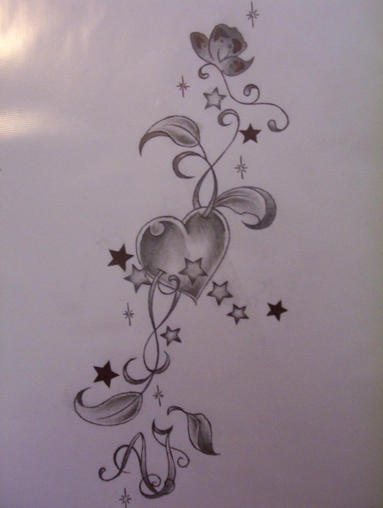 Heart tattoo design by tattoosuzette on deviantart for Heart design tattoos