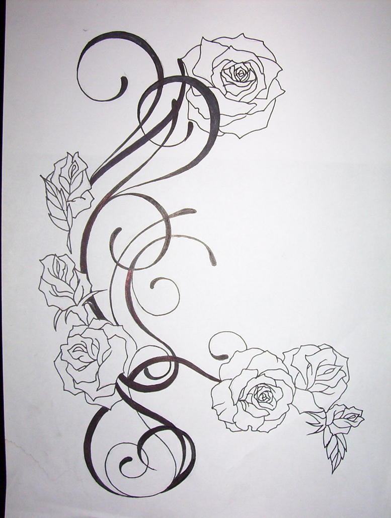 flower tattoo design by ~tattoosuzette on deviantART
