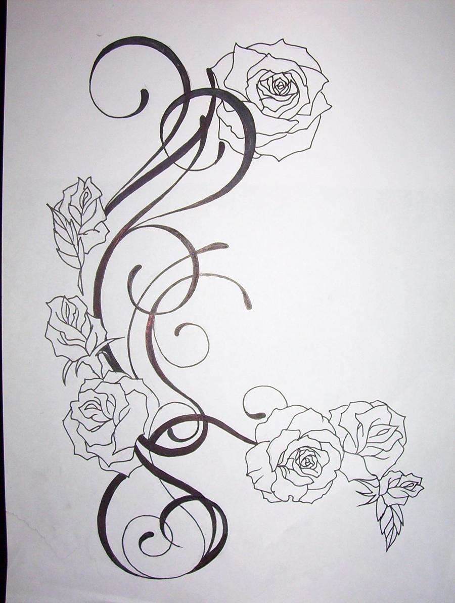 Modle Arabesque Fleur Tattoo Pictures