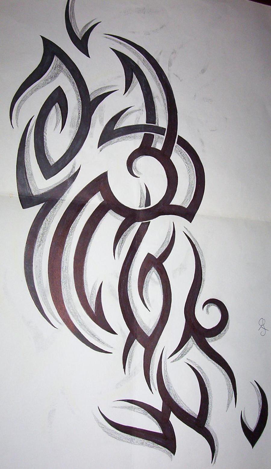tribal tattoo design by tattoosuzette on deviantart. Black Bedroom Furniture Sets. Home Design Ideas