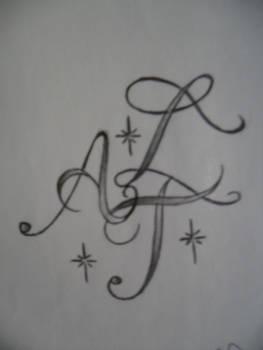 alphabet script tattoo design