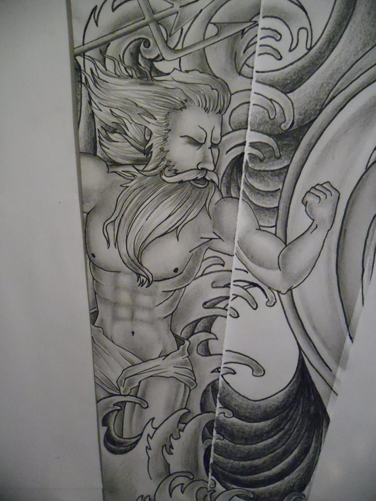 Poseidon water tattoo design by tattoosuzette on deviantart for Water tattoo designs