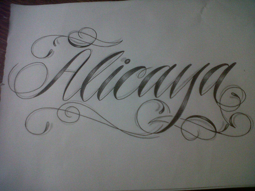 Text script font tattoo design by tattoosuzette