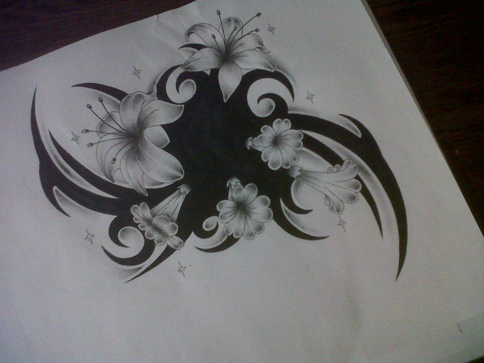 flower tattoo design cover up by tattoosuzette on deviantart. Black Bedroom Furniture Sets. Home Design Ideas