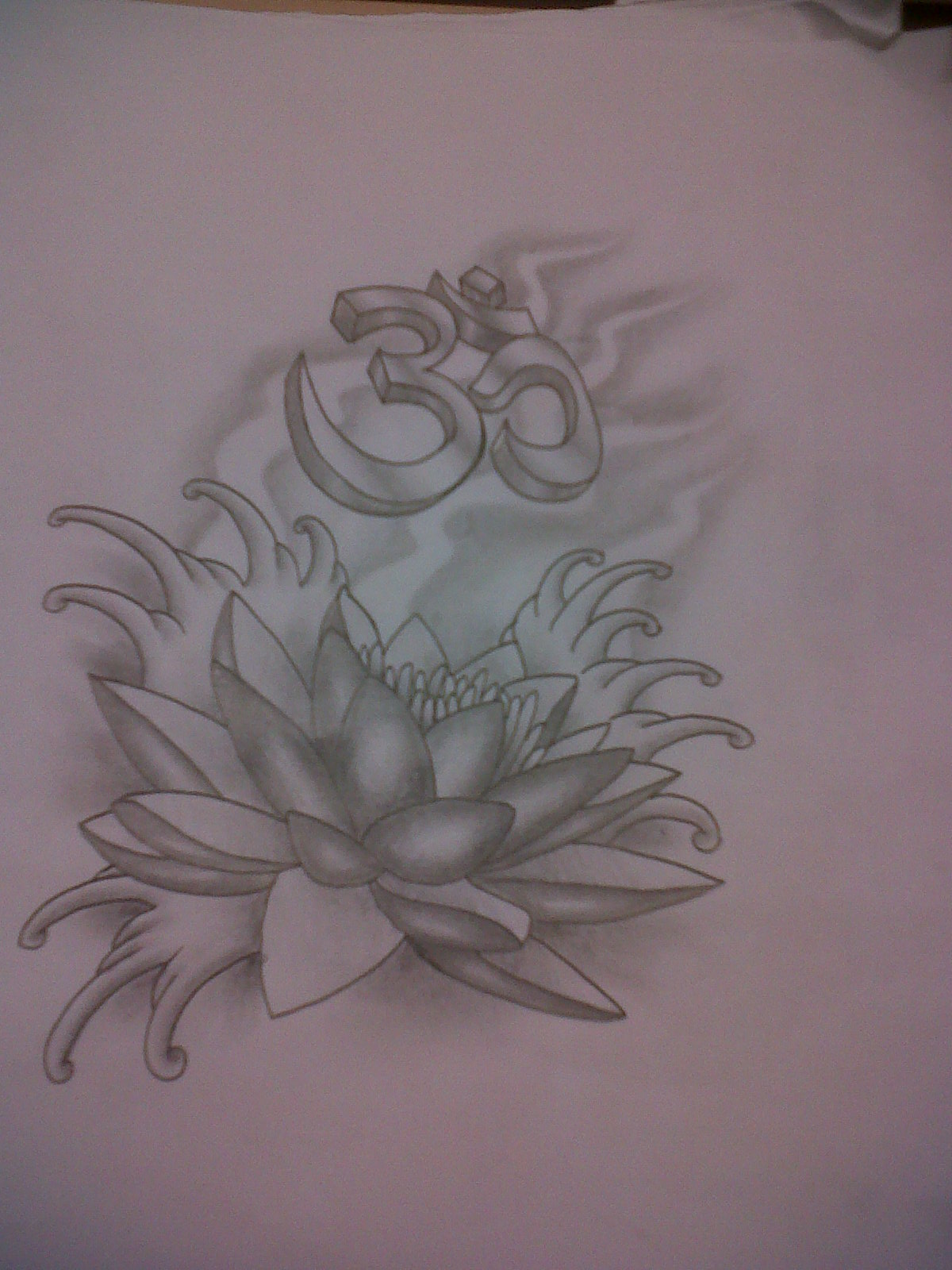 Lotus Tattoo Design With Ohm By Tattoosuzette On Deviantart