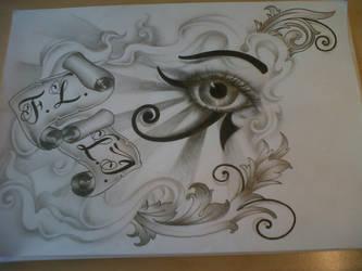 horus eye tattoo design by tattoosuzette