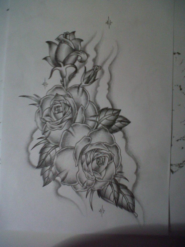 roses tattoo design by tattoosuzette on deviantart. Black Bedroom Furniture Sets. Home Design Ideas