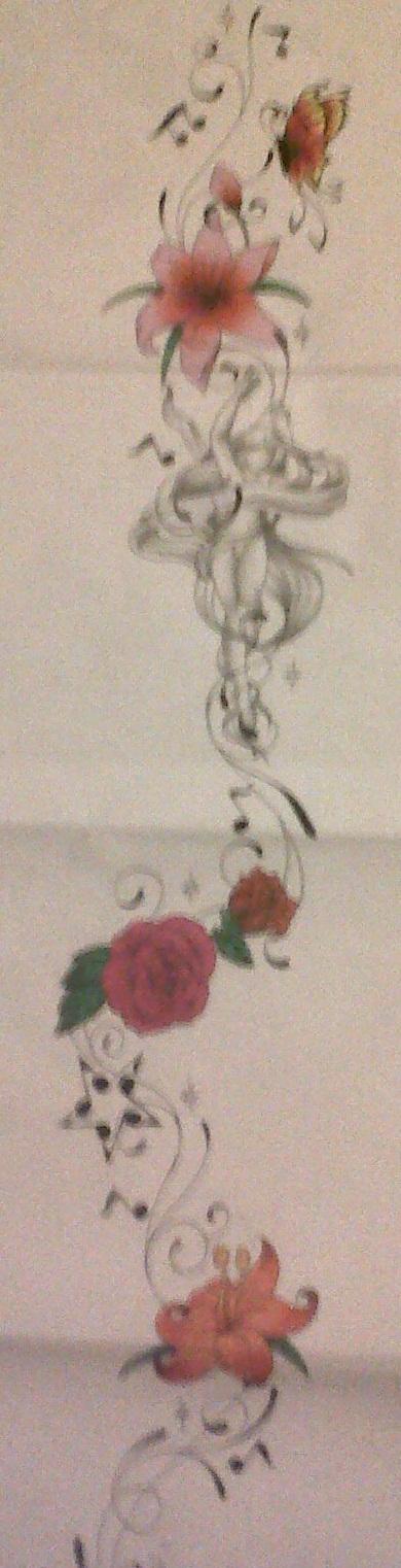 feminine swirly leg tattoo design by tattoosuzette on deviantart. Black Bedroom Furniture Sets. Home Design Ideas