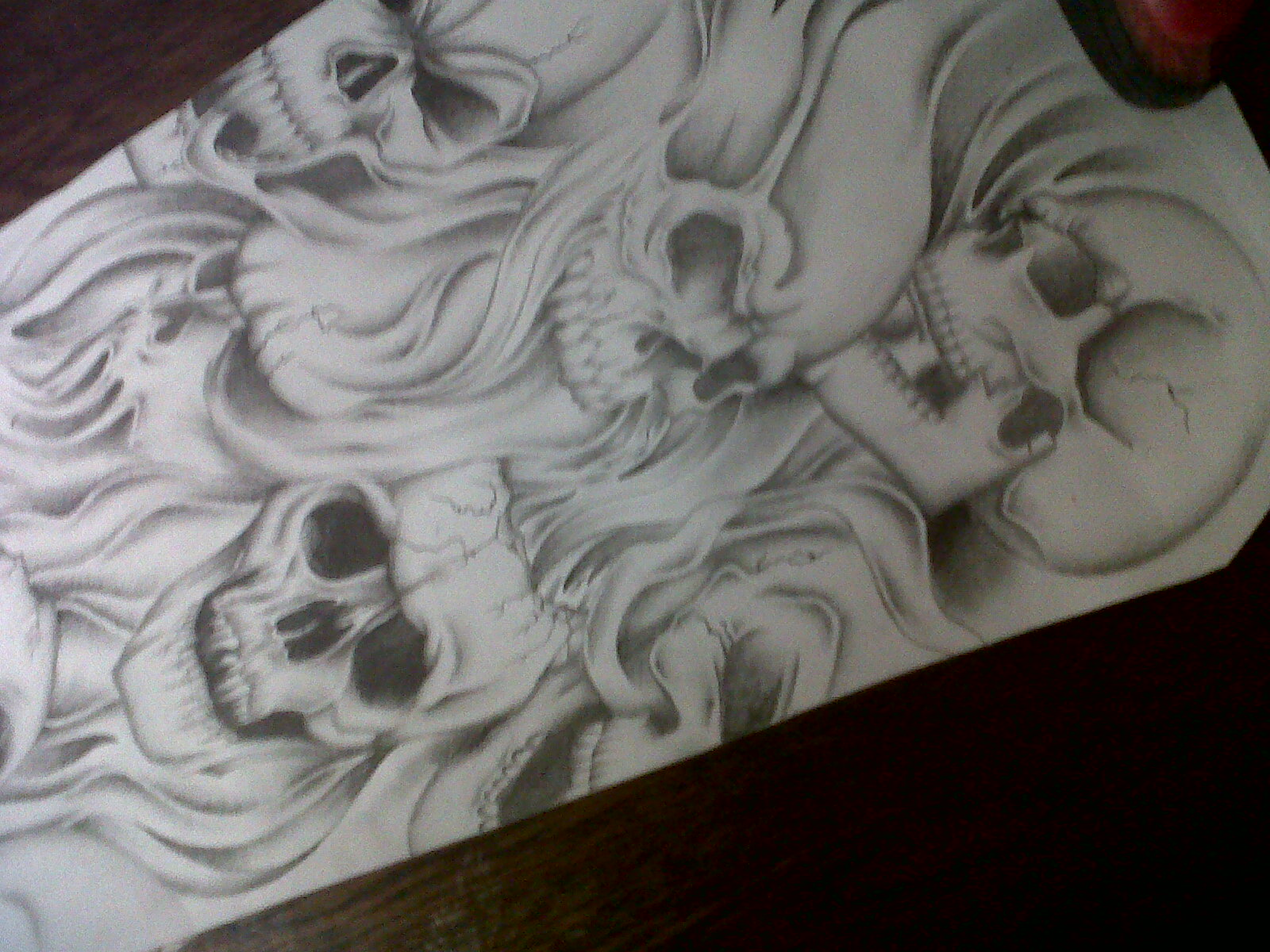 skull sleeve tattoo design by tattoosuzette on DeviantArt