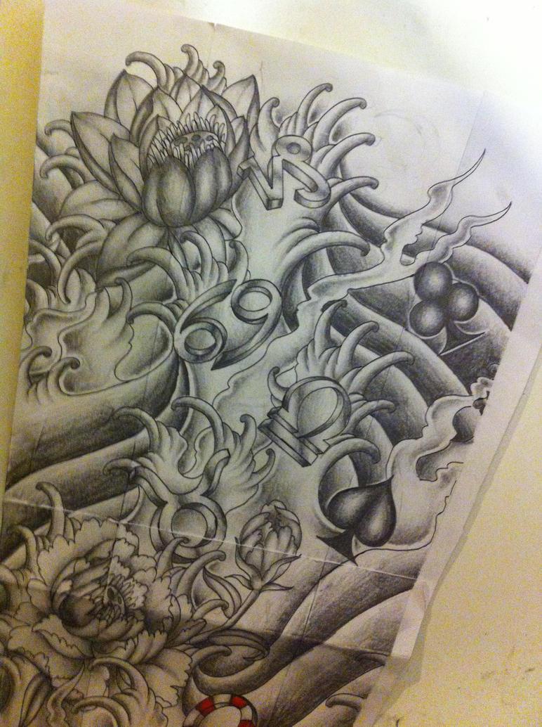 japanese full sleeve tattoo design by tattoosuzette on DeviantArt