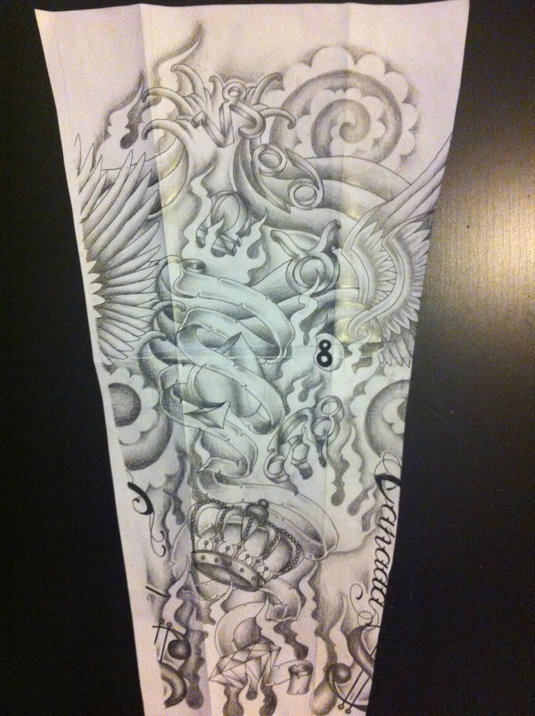 sleeve tattoo design by tattoosuzette on deviantart. Black Bedroom Furniture Sets. Home Design Ideas