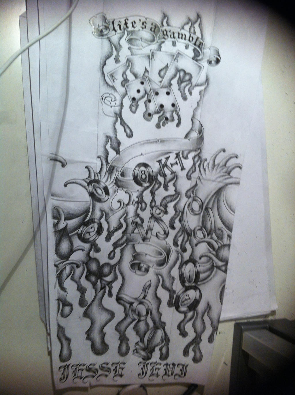 Half Sleeve Tattoo Designs Drawings