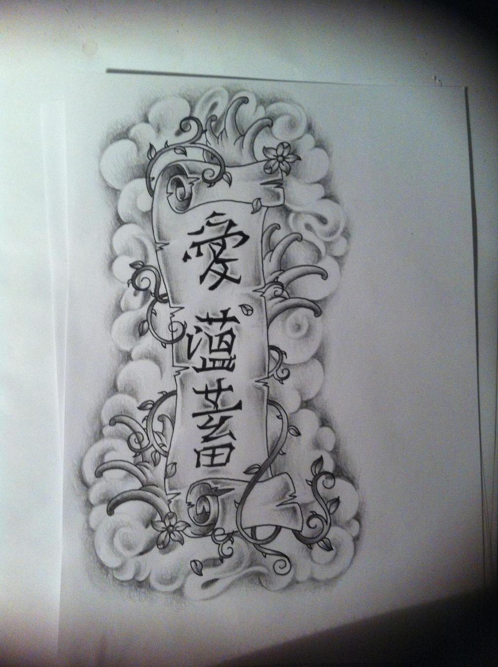 scroll tattoo design by tattoosuzette on deviantart. Black Bedroom Furniture Sets. Home Design Ideas