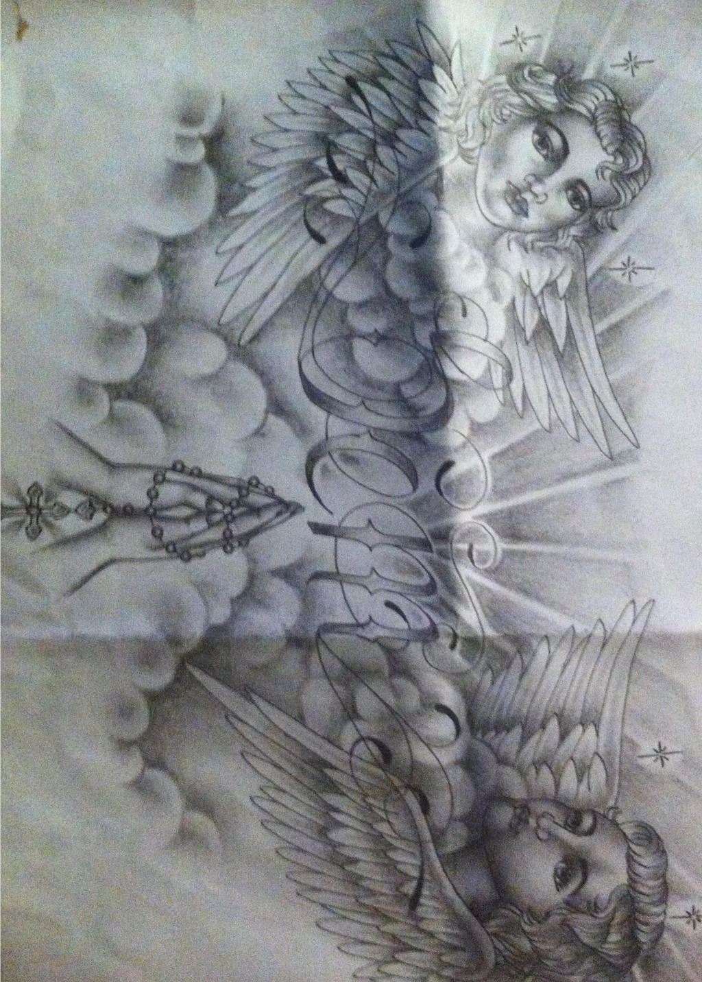 Religious chest tattoo design by tattoosuzette on deviantart for Chest tattoo drawings
