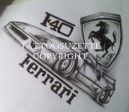 Ferrari Horse Tattoo Ferrari Tattoo Design by
