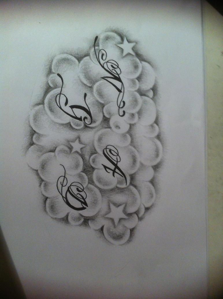 Cloud Tattoo Drawing: Clouds Tattoo Design By Tattoosuzette On DeviantArt
