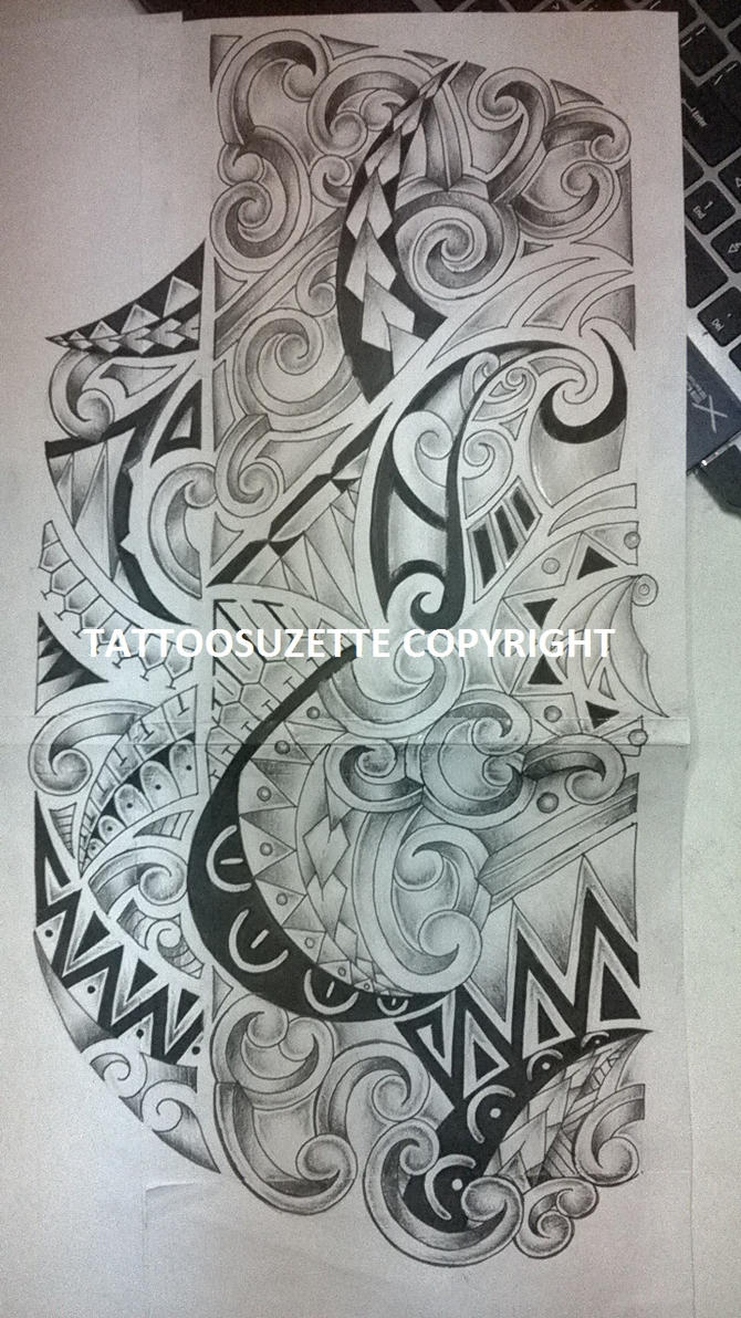 maori tattoo design adapted in new style by tattoosuzette on deviantart. Black Bedroom Furniture Sets. Home Design Ideas