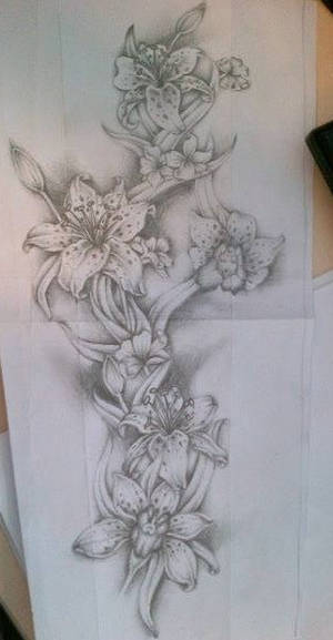 Flower full sleeve tattoo design