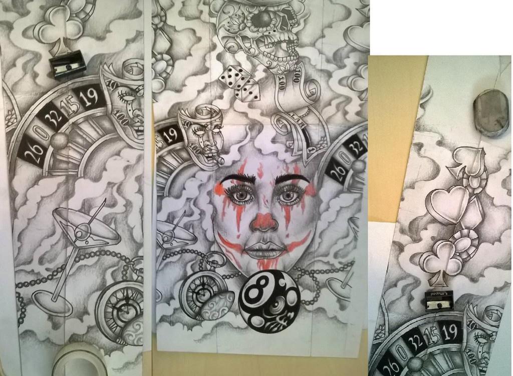 Casino tattoo design sleeve by tattoosuzette on DeviantArt