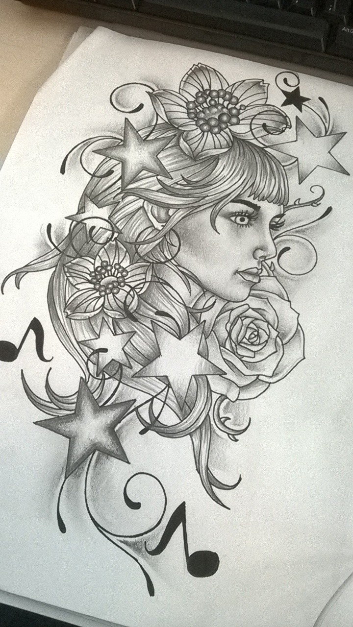top pin up girl stencil images for pinterest tattoos. Black Bedroom Furniture Sets. Home Design Ideas