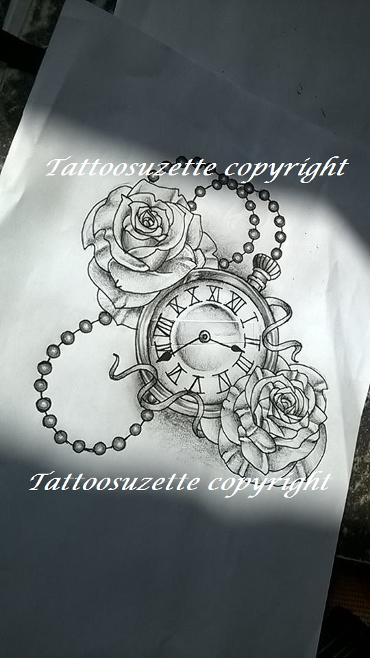 Clock Tattoo Design Tatouage Horloge By Tattoosuzette On Deviantart