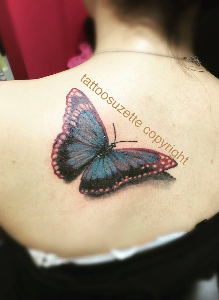 792e11e630d21 realistic butterfly tattoo by tattoosuzette on DeviantArt