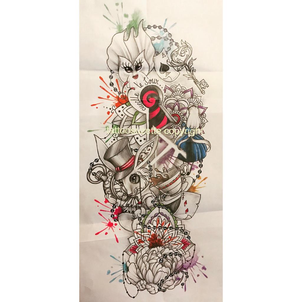 Tatouage alice au pays des merveilles by tattoosuzette on deviantart - Tatouage chat alice au pays des merveilles ...