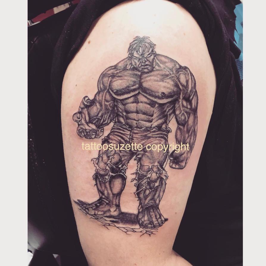 hulk tattoo by tattoosuzette