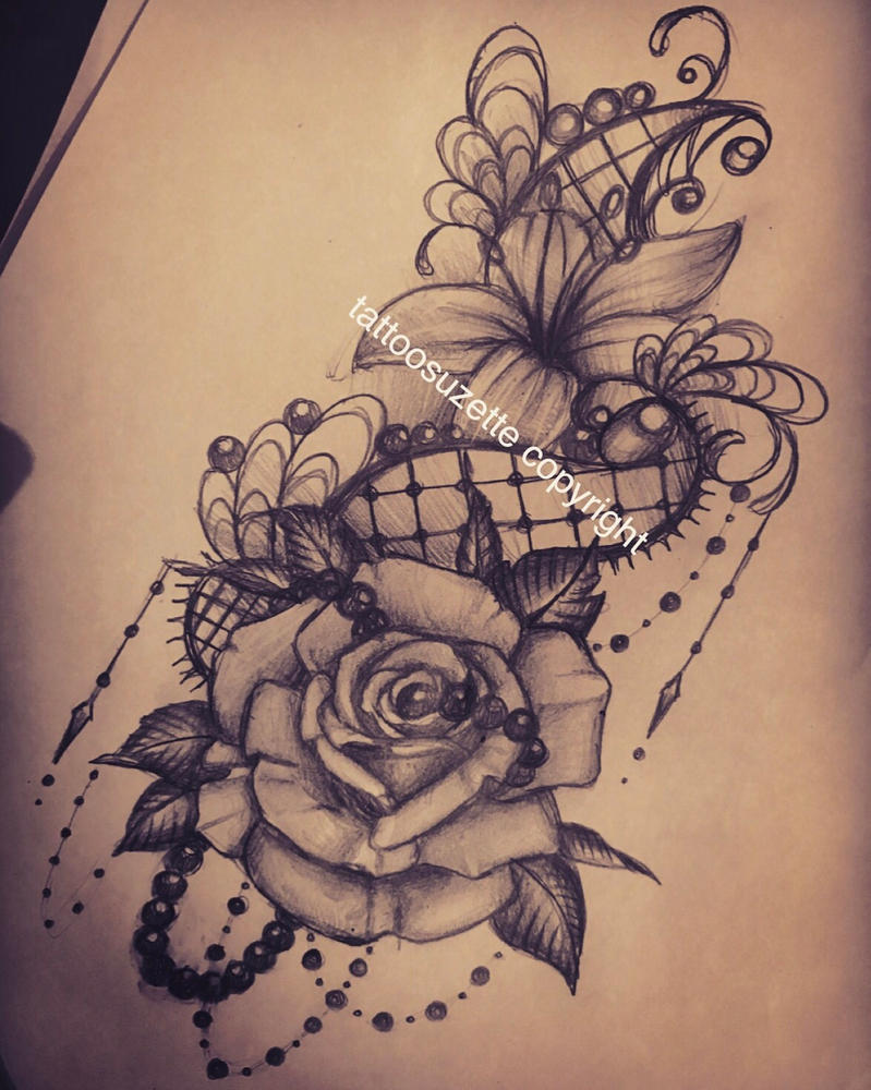 Tatouage rose fashion designs - Rose dessin tatouage ...