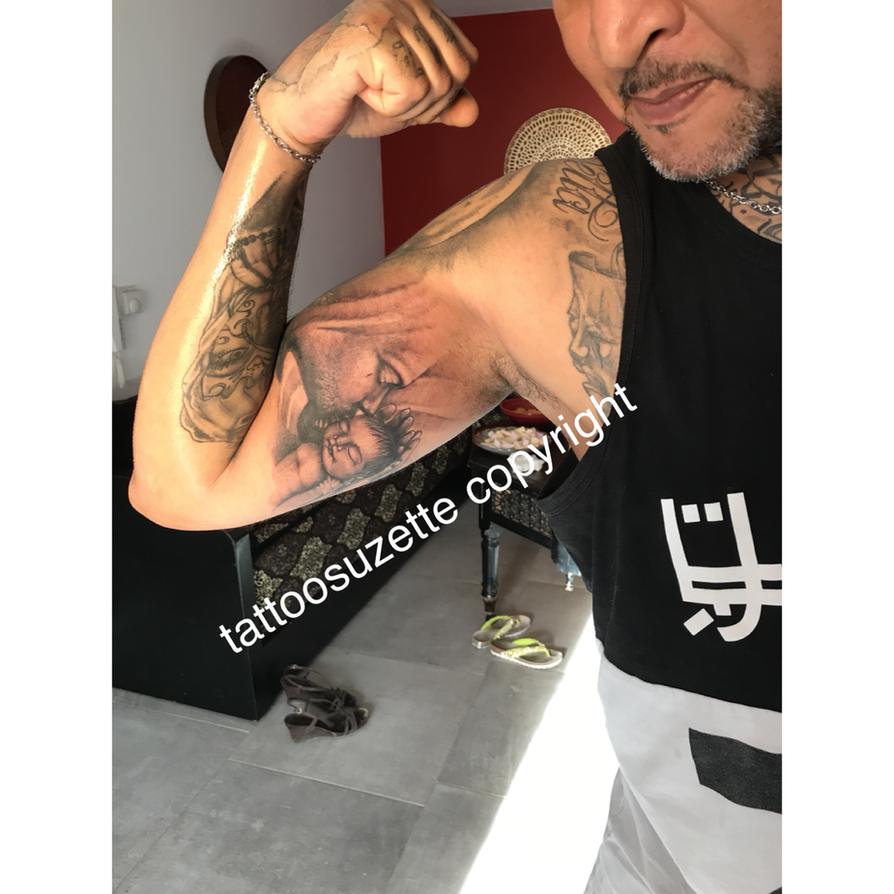 tatouage booba by tattoosuzette