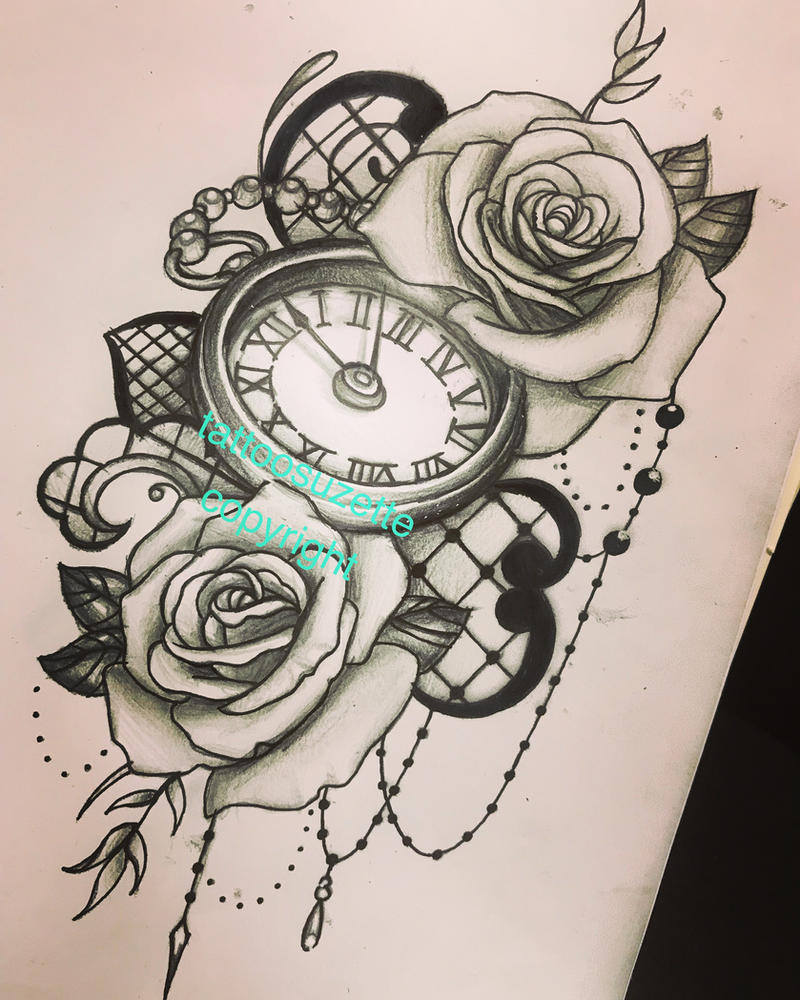 Dessin De Tatouage Horloge Kolorisse Developpement