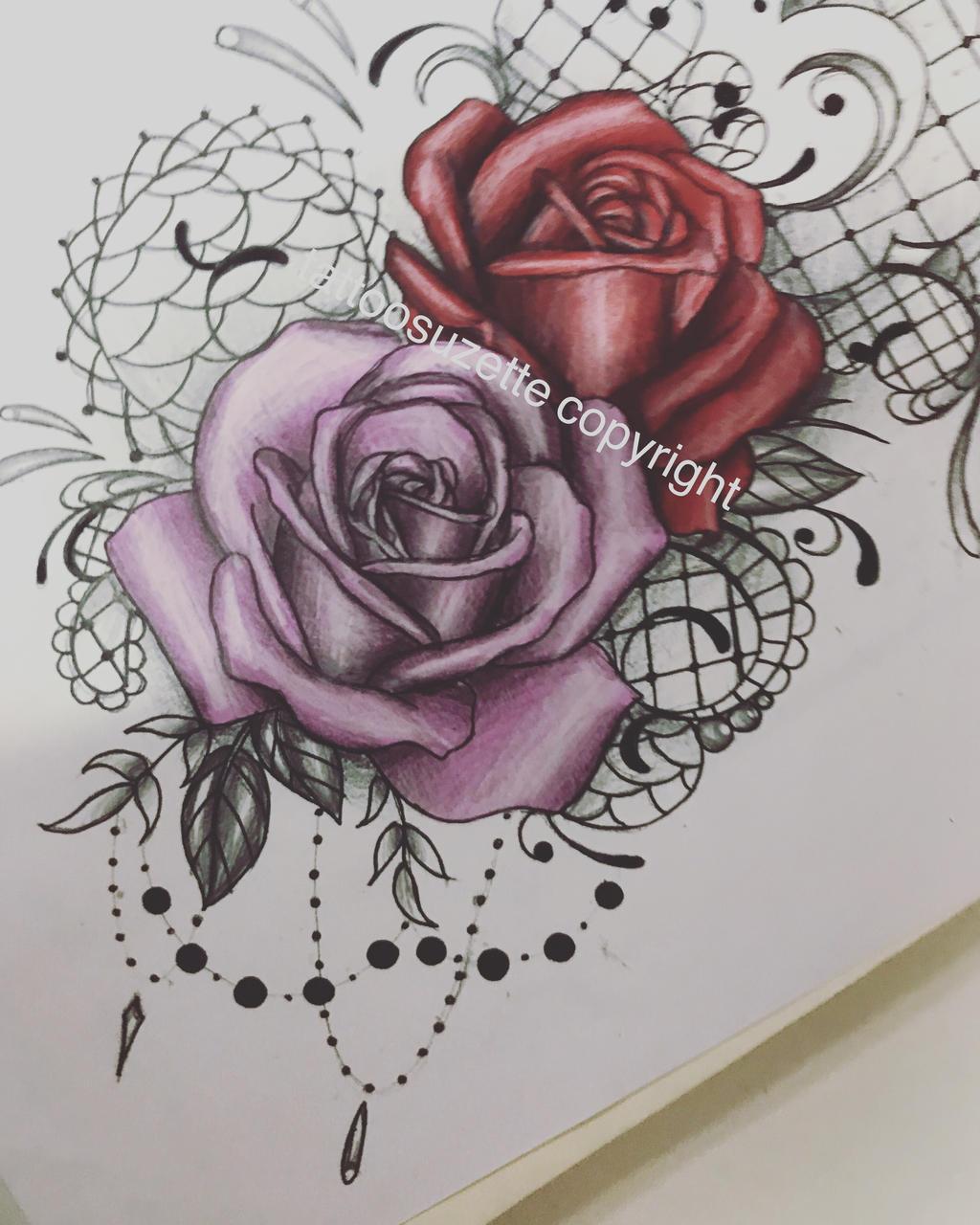 tatouage roses mandala by tattoosuzette on deviantart. Black Bedroom Furniture Sets. Home Design Ideas