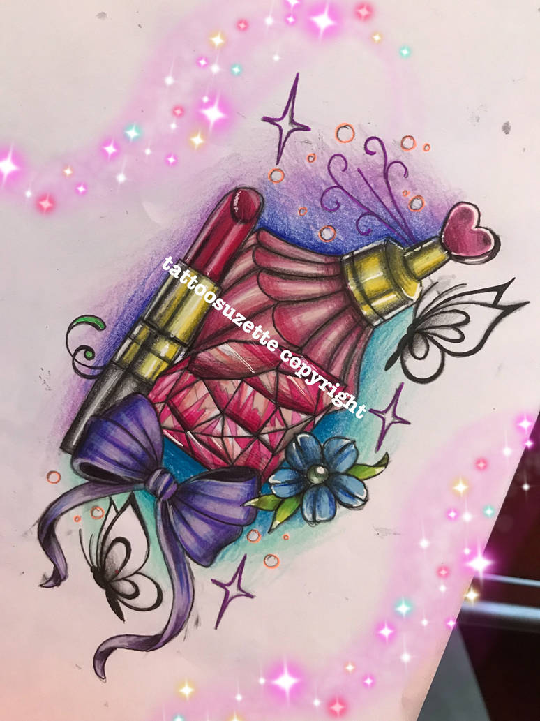 lipstick tattoo design by tattoosuzette on DeviantArt