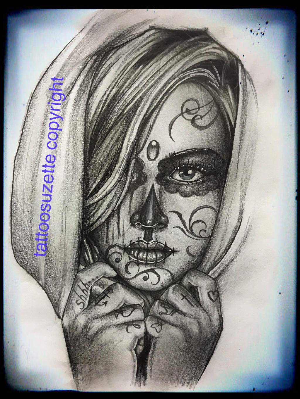 santa muerte tattoo design by tattoosuzette on deviantart. Black Bedroom Furniture Sets. Home Design Ideas