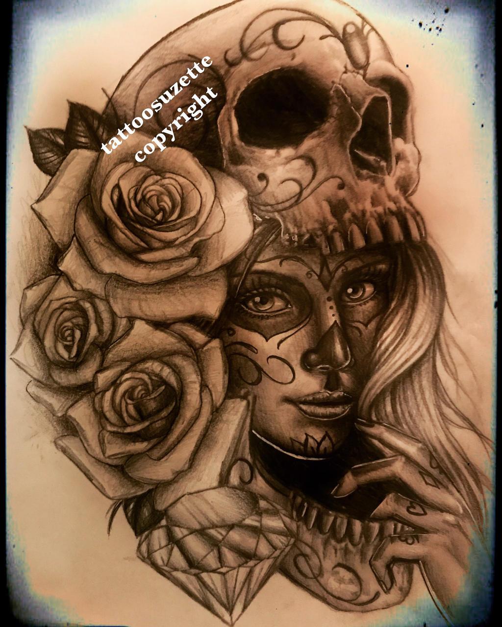 Tatouage catrina by tattoosuzette on deviantart - Les plus beaux tatouages femme ...