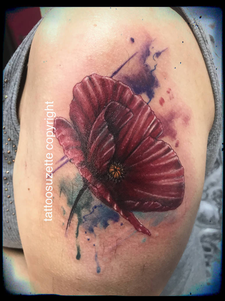 Tatouage Coquelicot Aquarelle By Tattoosuzette On Deviantart