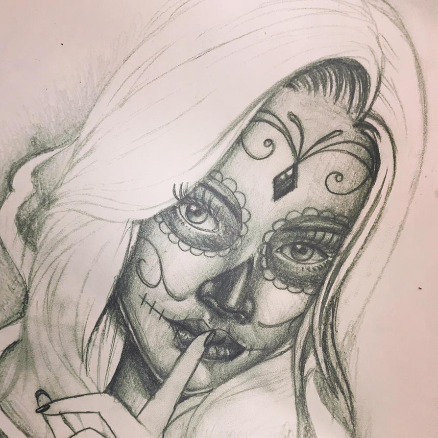 santa muerte tattoo design by tattoosuzette on DeviantArt