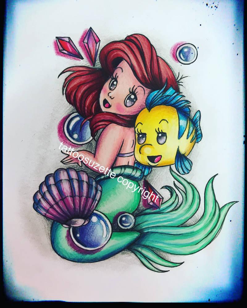 5f8d5b768 little mermaid tattoo design by tattoosuzette on DeviantArt