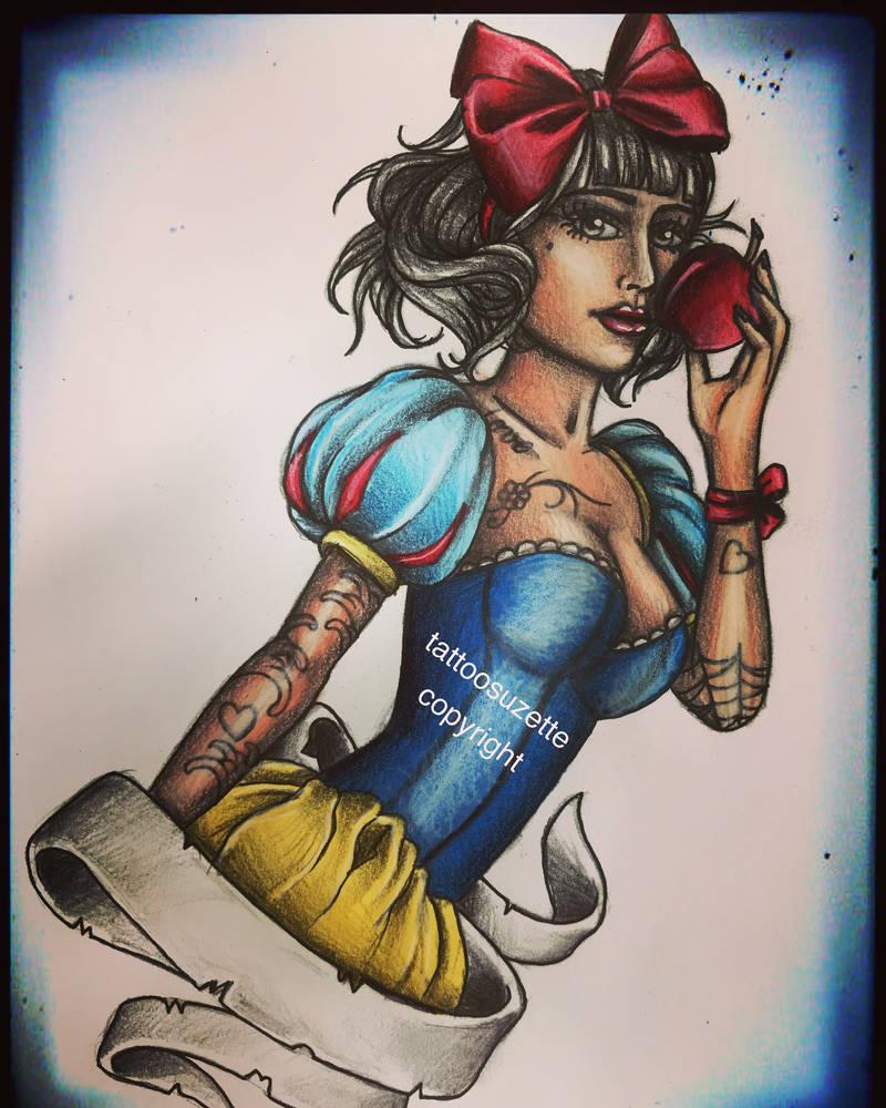 0efc98316 disney tattoo design snow white by tattoosuzette on DeviantArt
