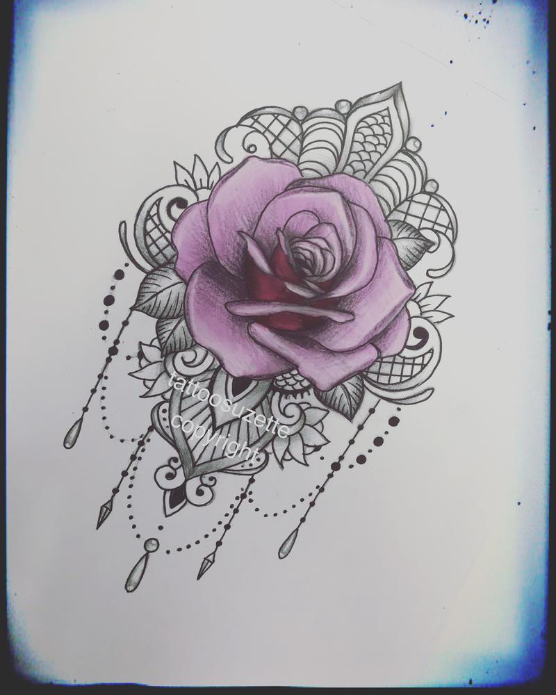 lace rose tattoo design by tattoosuzette on deviantart. Black Bedroom Furniture Sets. Home Design Ideas