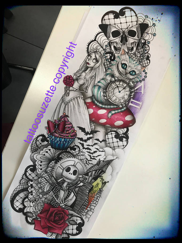 45396cbac tatpuage bras complet disney by tattoosuzette on DeviantArt
