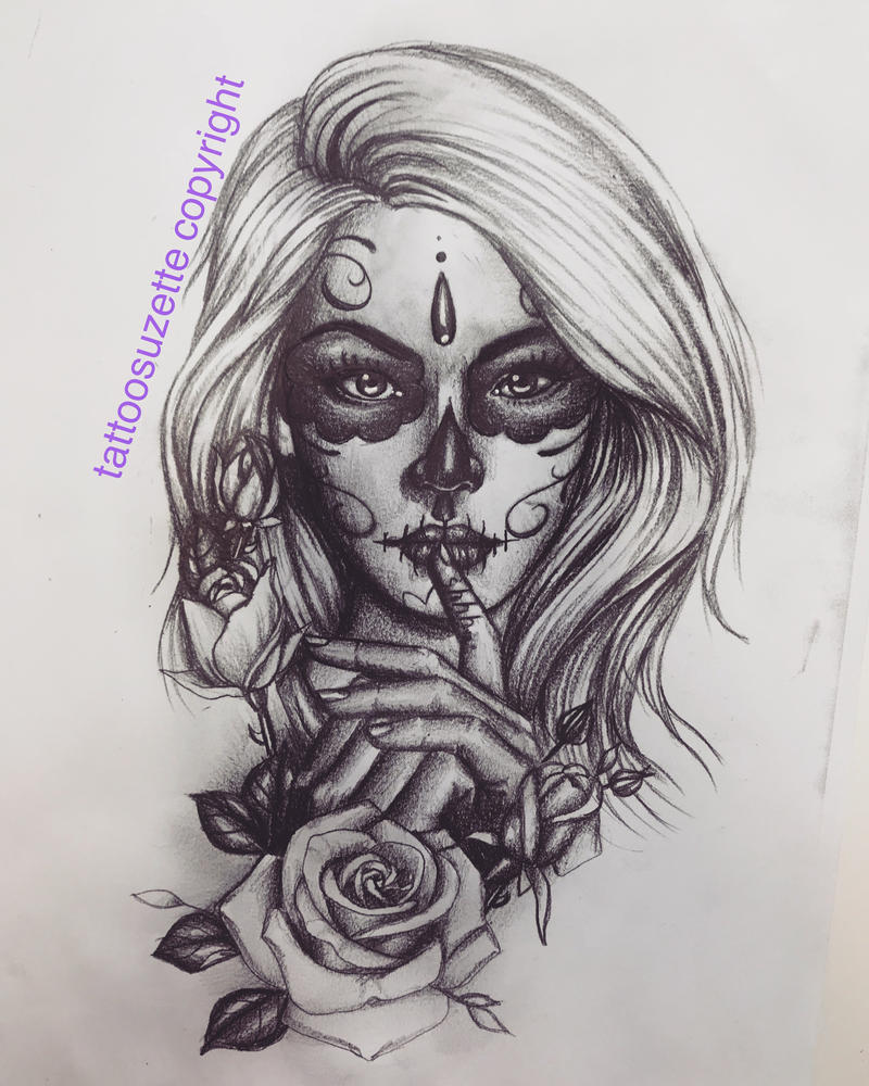 tattoo catrina santa muerte by tattoosuzette on DeviantArt