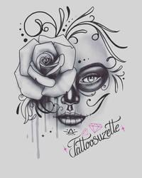 Tatouage catrina by tattoosuzette