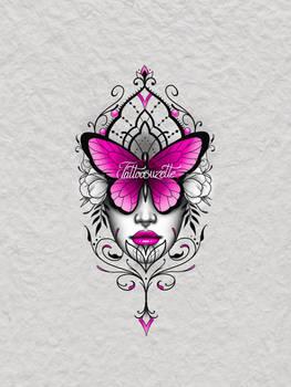 Tatouage papillon mandala