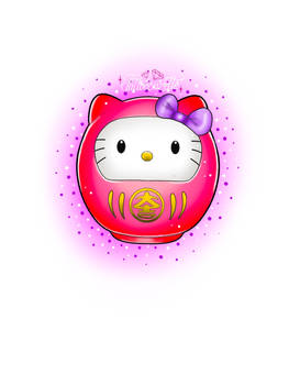 Tatouage daruma hello kitty