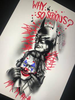 tatouage batman joker