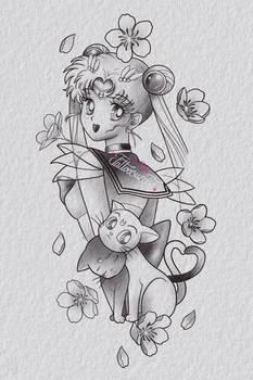 Tatouage sailor moon