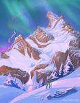 Hebra Peak - Zelda BOTW